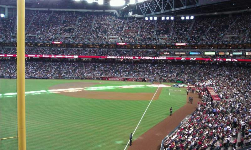 Seating view for Chase Field Section 222 Row 1 Seat 6