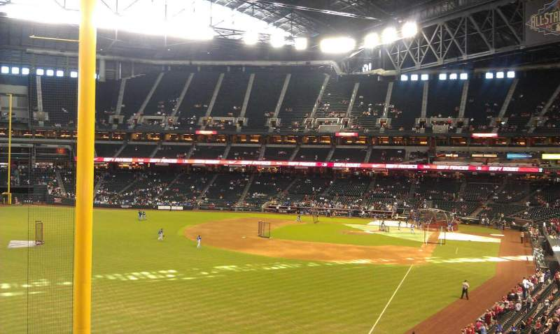 Seating view for Chase Field Section 222 Row 2 Seat 4
