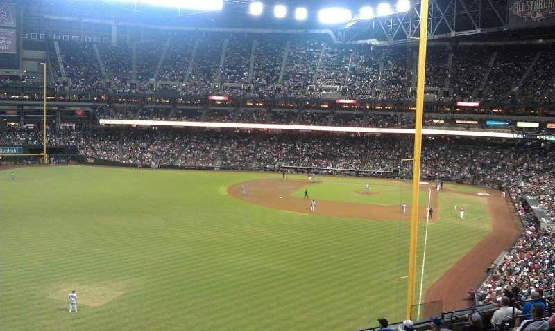 Seating view for Chase Field Section 224W Row 12 Seat 14