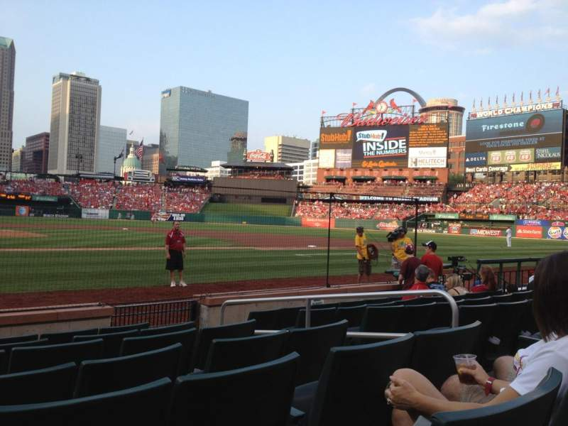 Seating view for Busch Stadium Section 2 Row G Seat 9