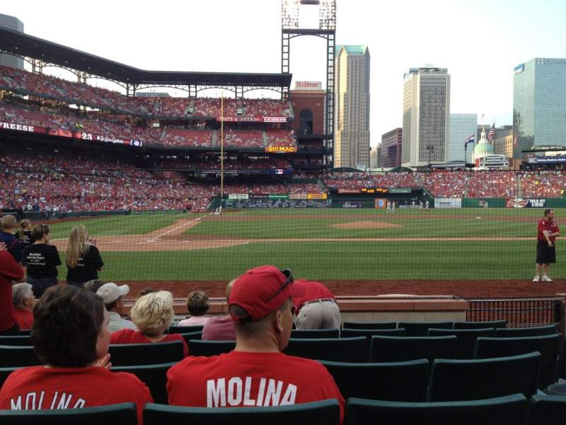 Busch Stadium, section: 2, row: G, seat: 9