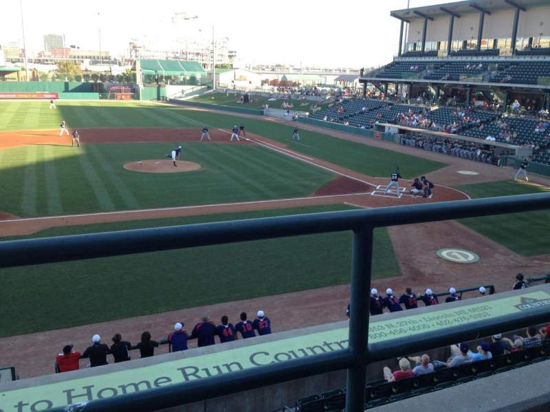 Seating view for Haymarket Park Section 217 Row 1 Seat 20