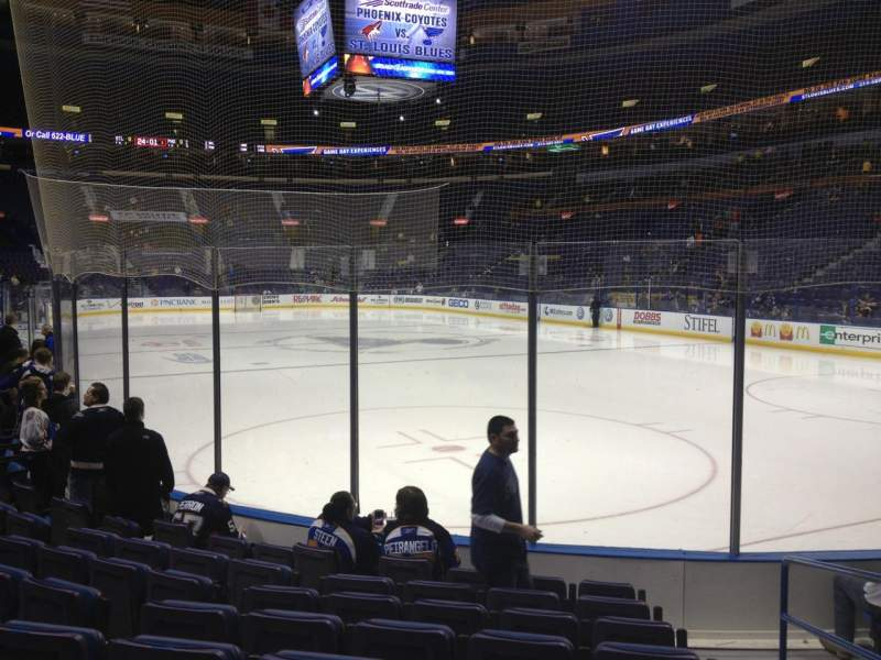 Seating view for Enterprise Center Section 125 Row H Seat 1
