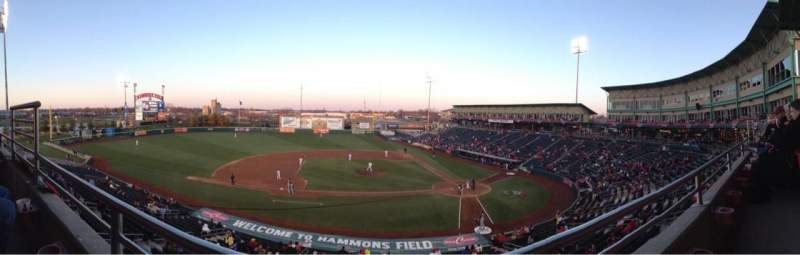 Seating view for Hammons Field Section BB Row 1 Seat 11