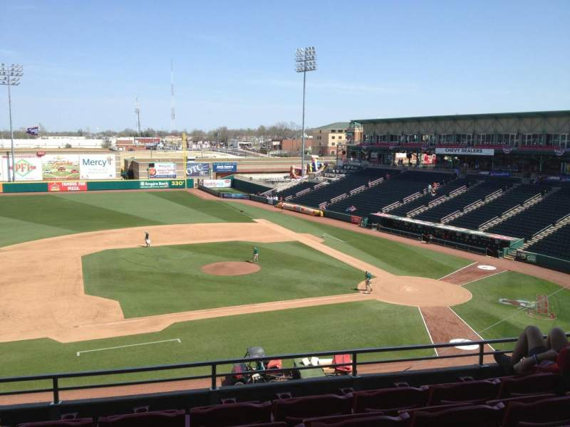 Seating view for Hammons Field Section CC Row 5 Seat 5