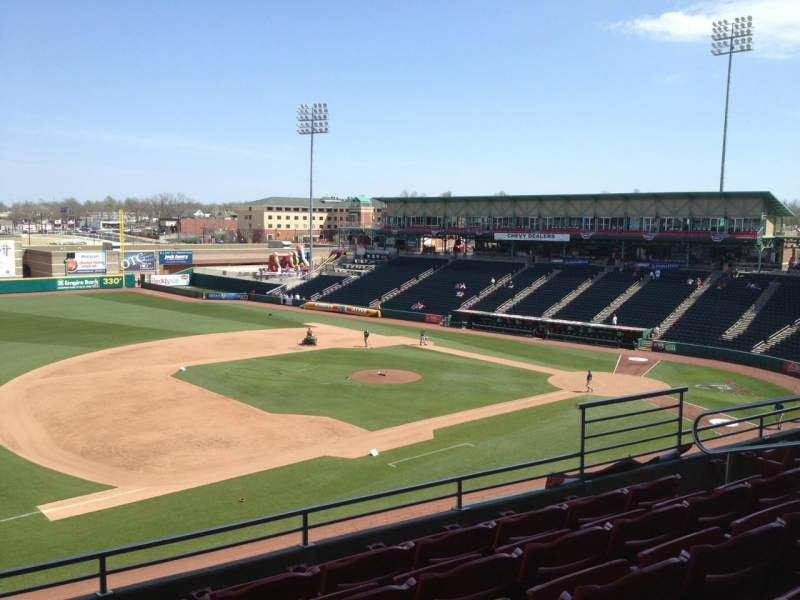 Seating view for Hammons Field Section FF Row 5 Seat 5