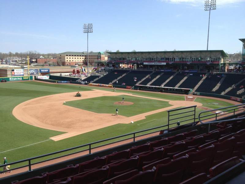 Seating view for Hammons Field Section GG Row 5 Seat 5