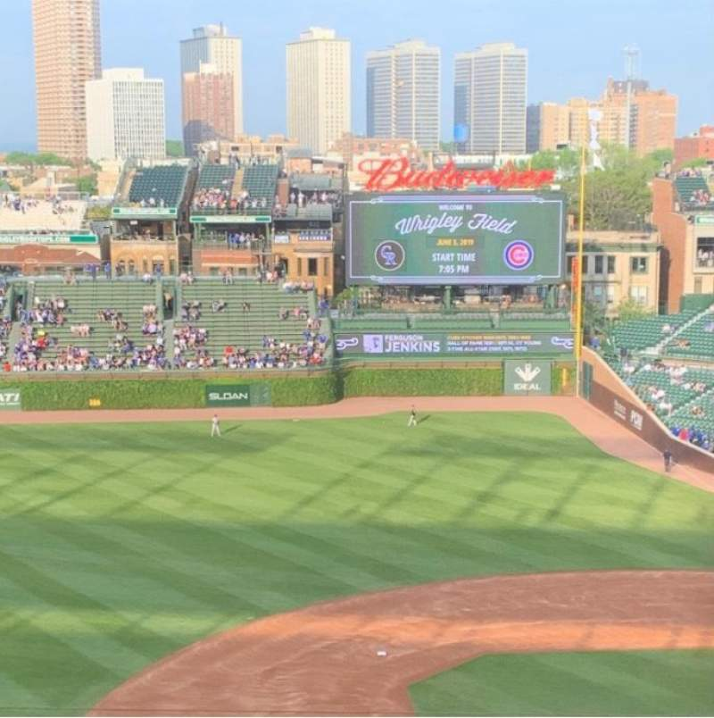 Seating view for Wrigley Field Section 410L Row 7 Seat 19