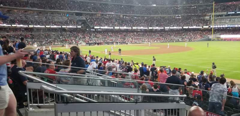 Seating view for SunTrust Park Section 112 Row 4 Seat 15