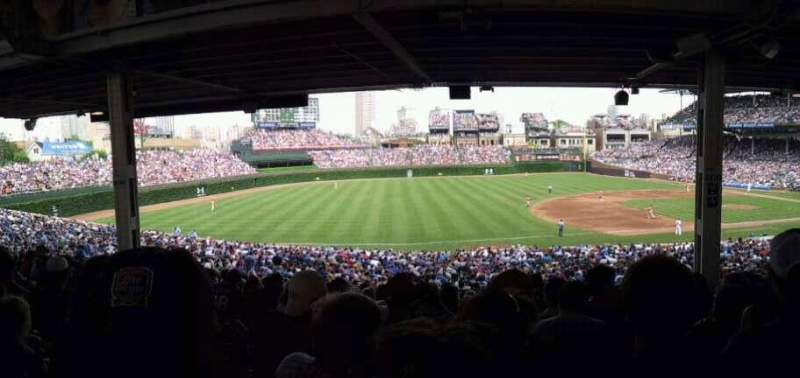 Wrigley Field, section 208, home of Chicago Cubs