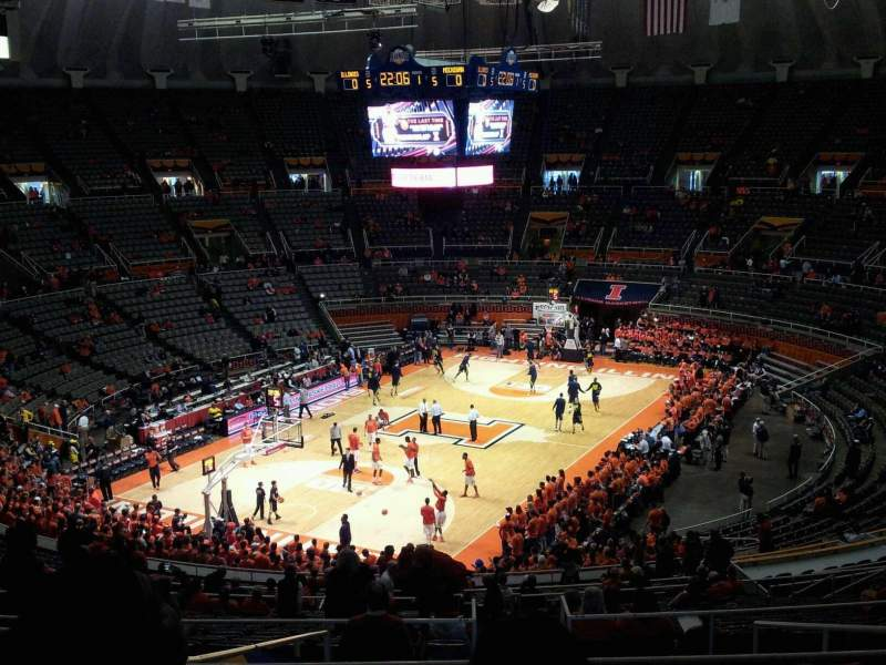 Seating view for State Farm Center Section C23 Row 10 Seat 4