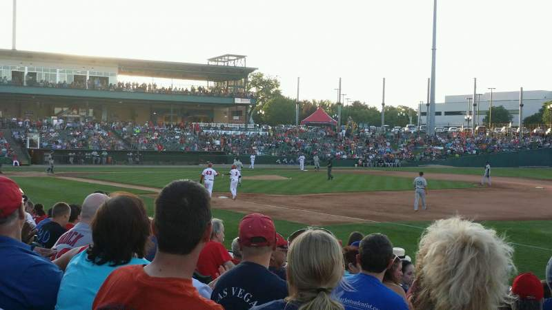Seating view for Dozer Park Section 101 Row 11 Seat 10