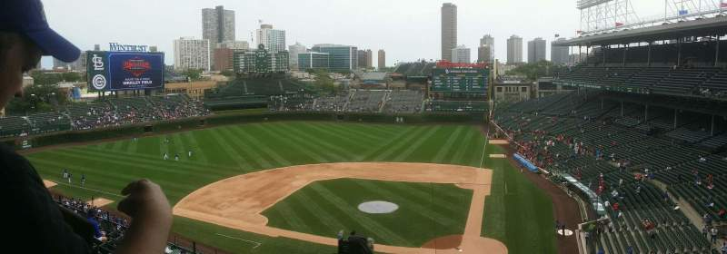Seating view for Wrigley Field Section 314L Row 10 Seat 2