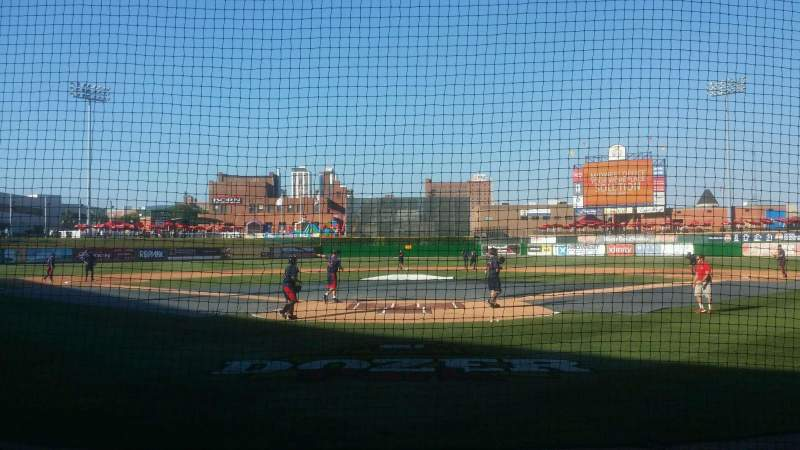 Seating view for Dozer Park Section 108 Row 4 Seat 7