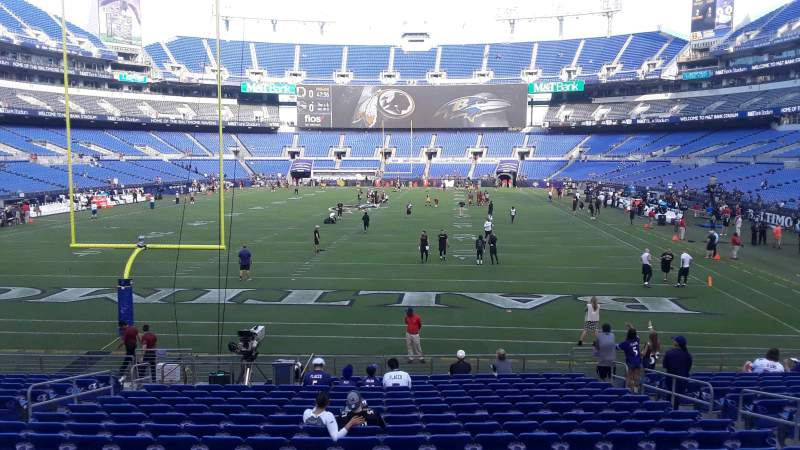 Seating view for M&T Bank Stadium Section 139 Row 18 Seat 8