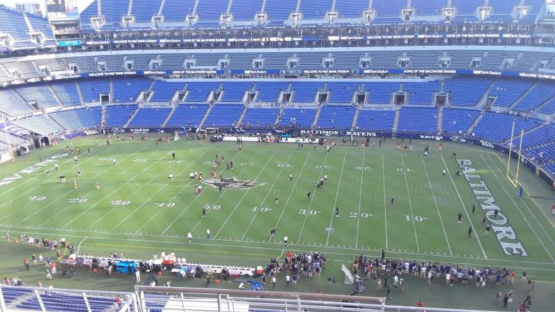 Seating view for M&T Bank Stadium Section 551 Row 8 Seat 15