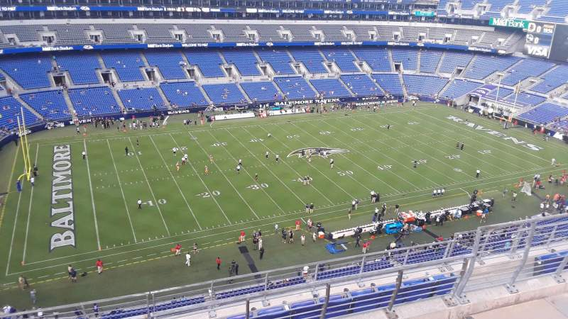 Seating view for M&T Bank Stadium Section 530 Row 8 Seat 8