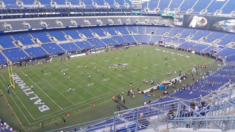 Seating view for M&T Bank Stadium Section 532 Row 9 Seat 9