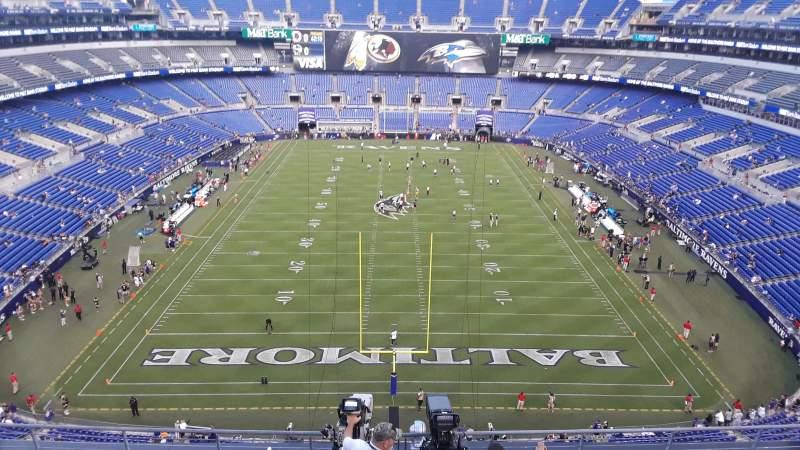 540, of Baltimore home Ravens Stadium, Bank section M&T