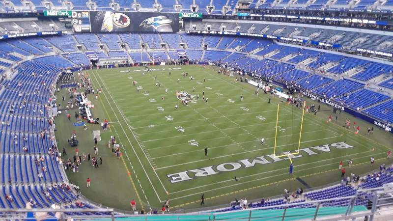 Seating view for M&T Bank Stadium Section 543 Row 8 Seat 8