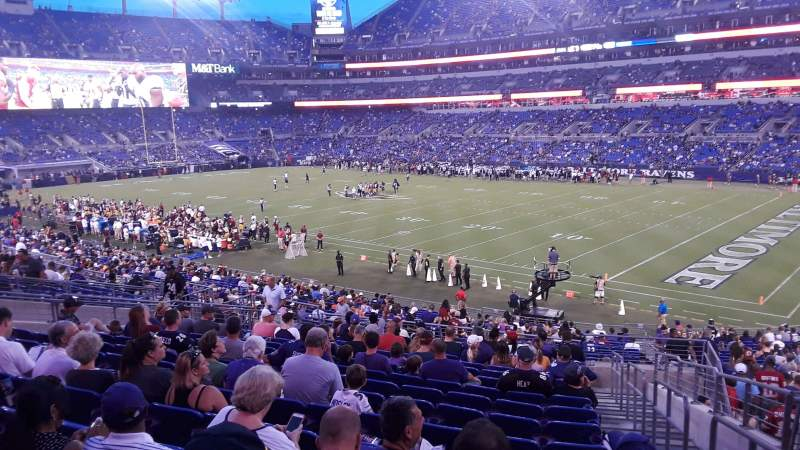Seating view for M&T Bank Stadium Section 148 Row 34 Seat 1