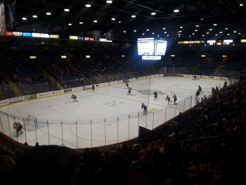 Seating view for Santander Arena Section 121 Row u Seat 5