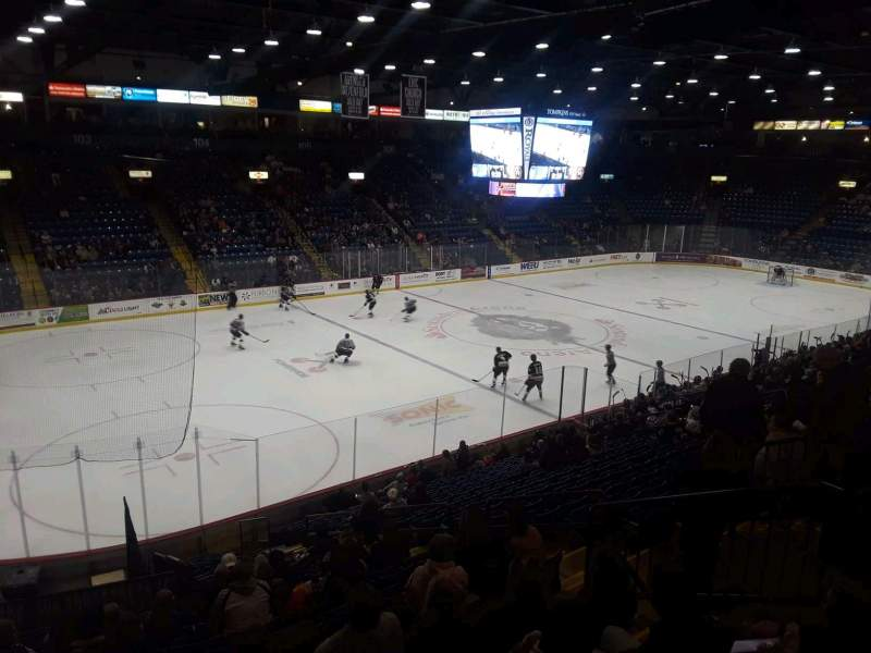 Seating view for Santander Arena Section 120 Row u Seat 7