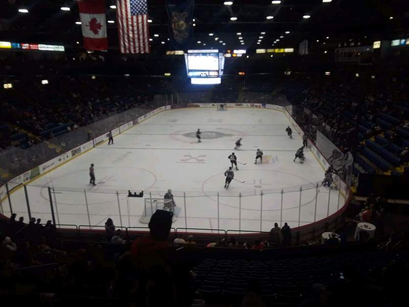 Seating view for Santander Arena Section 122 Row V Seat 20