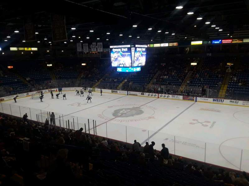 Seating view for Santander Arena Section 103 Row V Seat 2