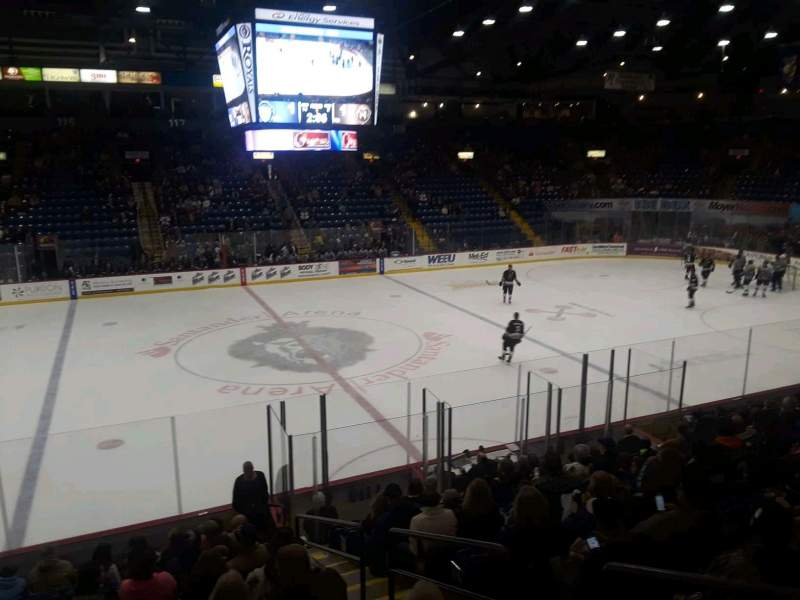 Seating view for Santander Arena Section 106 Row P Seat 1