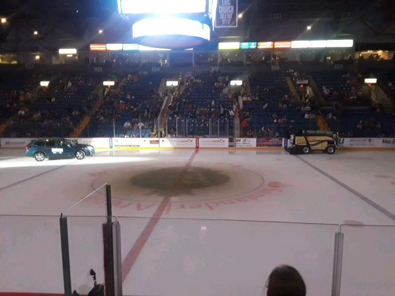 Seating view for Santander Arena Section 117 Row F Seat 3
