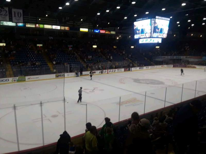 Seating view for Santander Arena Section 108 Row L Seat 5