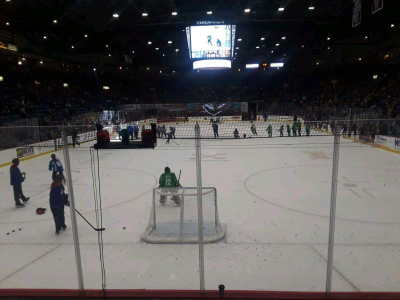 Seating view for Santander Arena Section 111 Row F Seat 4