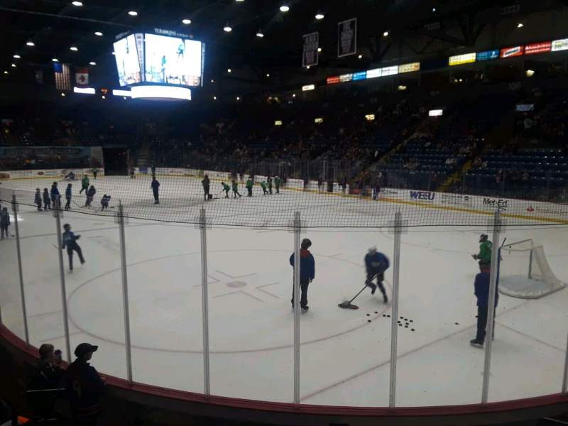 Seating view for Santander Arena Section 113 Row G Seat 5