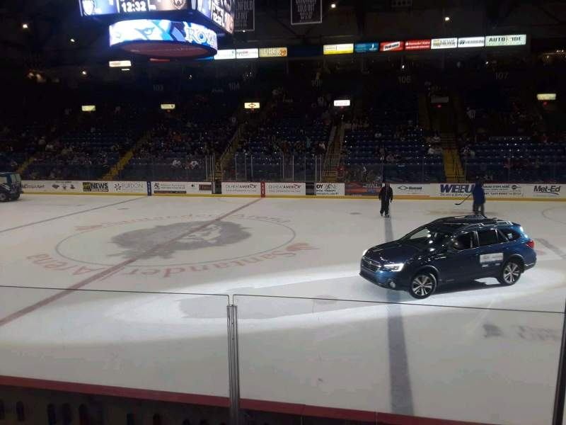 Seating view for Santander Arena Section 116 Row F Seat 9