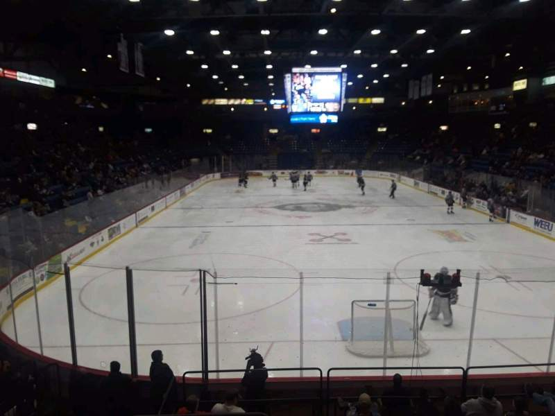 Seating view for Santander Arena Section 123 Row M Seat 13