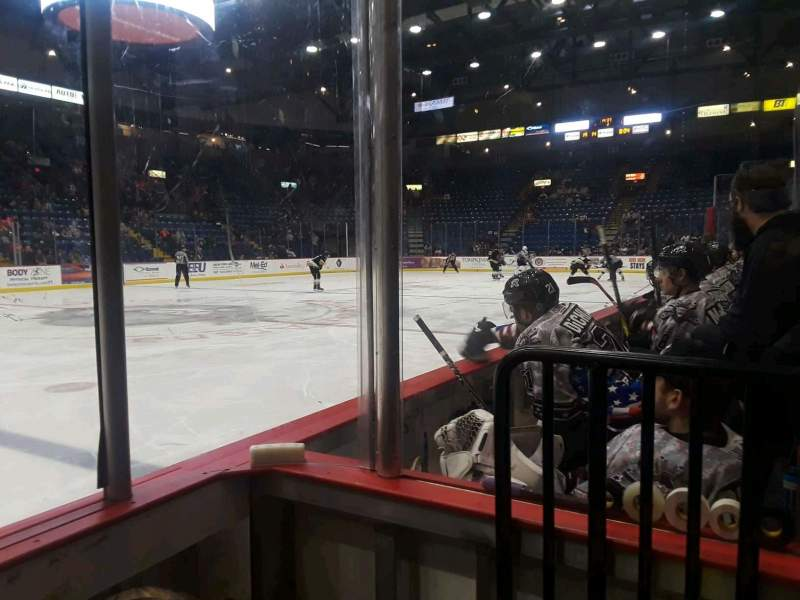 Seating view for Santander Arena Section 118 Row B Seat 12