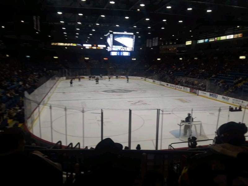 Seating view for Santander Arena Section 324 Row A
