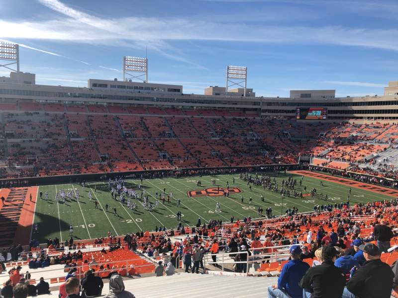 Seating view for Boone Pickens Stadium Section 333 Row 26 Seat 12