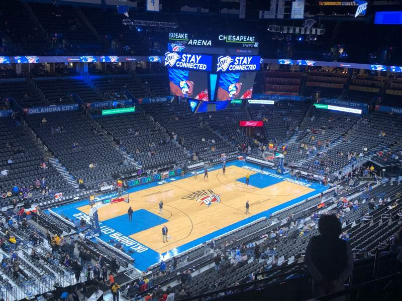 Seating view for Chesapeake Energy Arena Section 312 Row H Seat 14