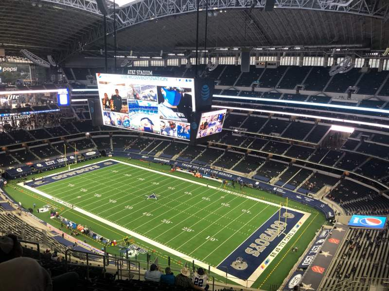 Seating view for AT&T Stadium Section 406 Row 25 Seat 17