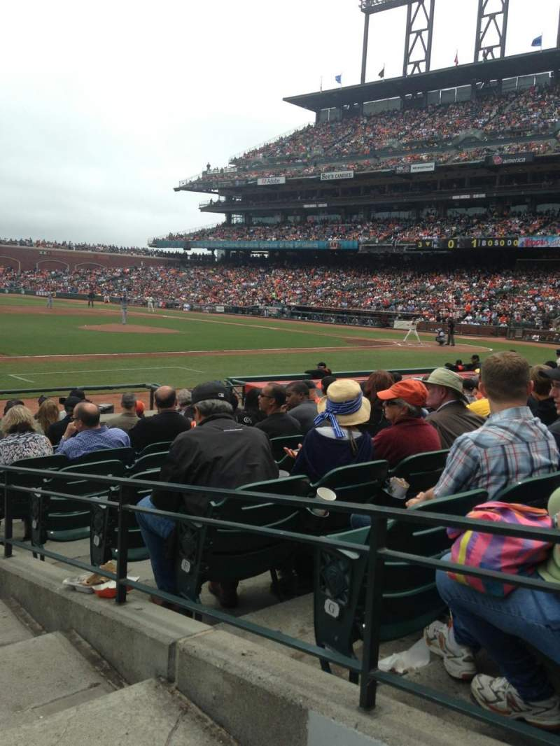AT&T Park, section: 125, row: 13, seat: 1