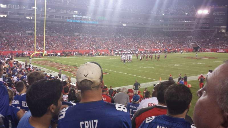 Seating view for Raymond James Stadium Section 127 Row p Seat 10