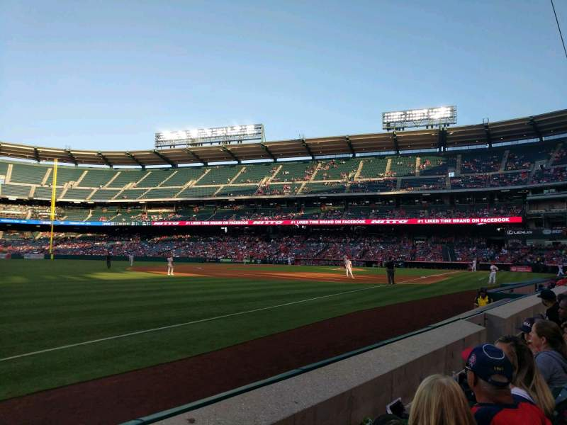 Seating view for Angel Stadium Section F107 Row B Seat 7