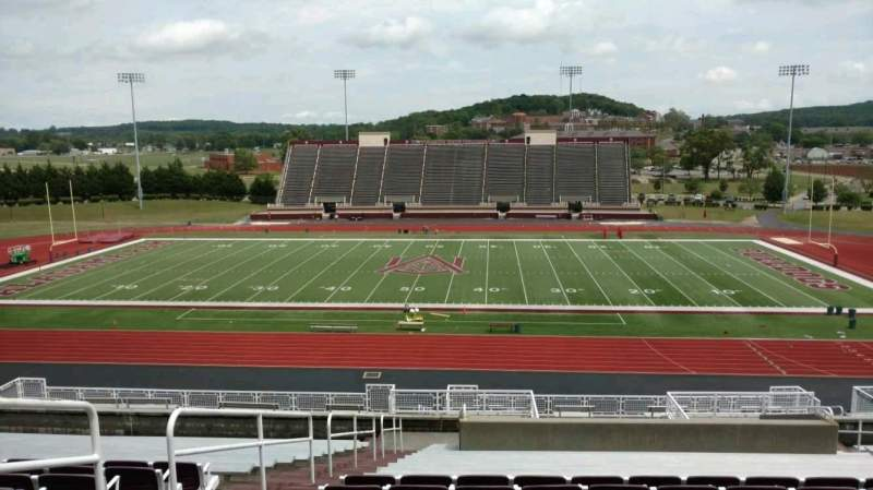 Seating view for Louis Crews Stadium Section 8 Row 20 Seat 16