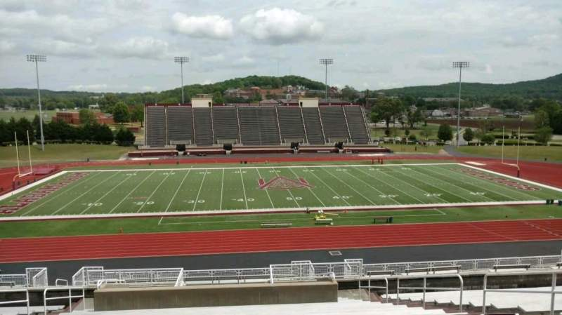 Seating view for Louis Crews Stadium Section 10 Row 20 Seat 8