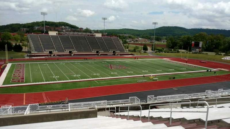 Seating view for Louis Crews Stadium Section 14 Row 20 Seat 8