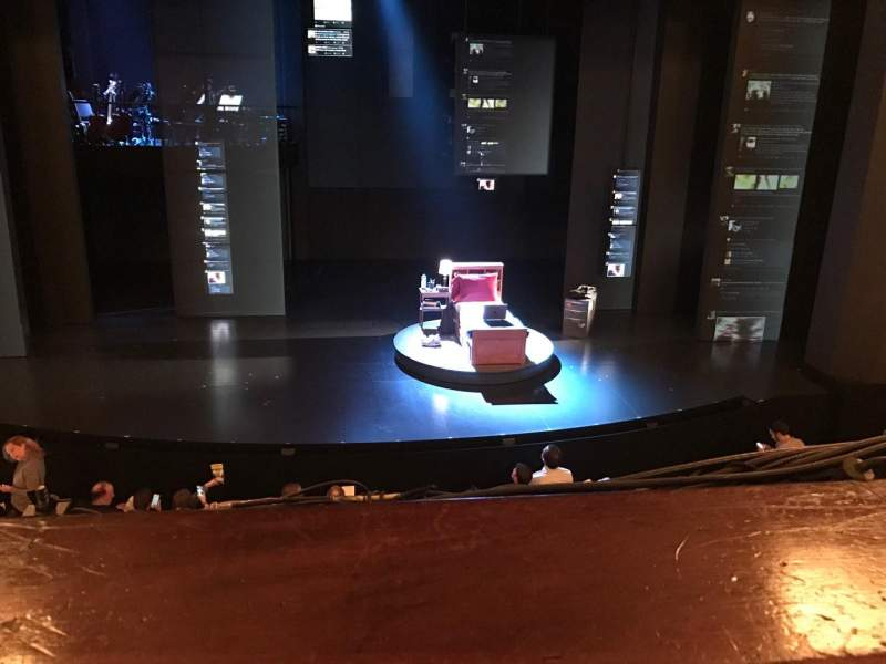 Seating view for Music Box Theatre Section Mezzanine C Row A Seat 109