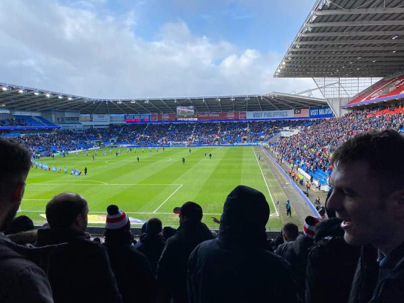 Seating view for Cardiff City Stadium Section 123 Row DD Seat 127