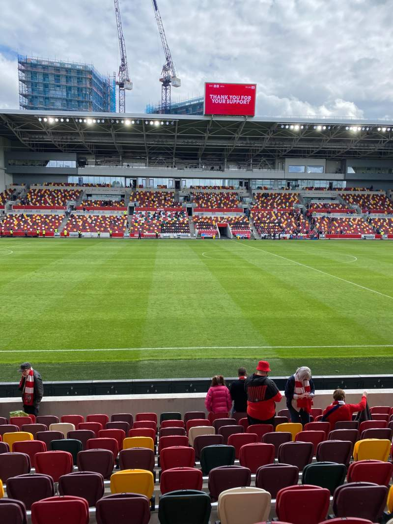 Seating view for Brentford Community Stadium Section N122 Row 10 Seat 545